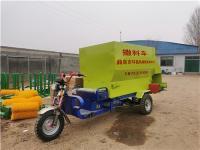 自动化牛场撒料车 柴油饲料投料车 电动三轮撒料车
